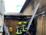 Scheunenbrand in Scheideldorf