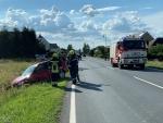 Bild der Verwüstung nach Verkehrsunfall auf der LB2